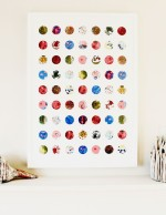 The Circles Print - Child's Artwork Collage